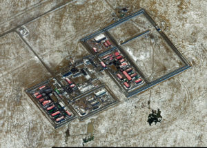 The prison where a Turkmen journalists for RFERL was held until recently. (Satellite image ©2018 DigitalGlobe, a Maxar company)